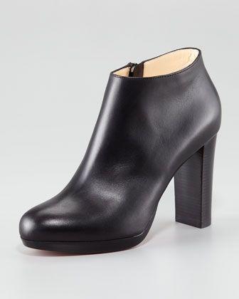 """$1095 Christian Louboutin Rock Platform Bootie - Neiman Marcus 3 3/4"""" Heel"""