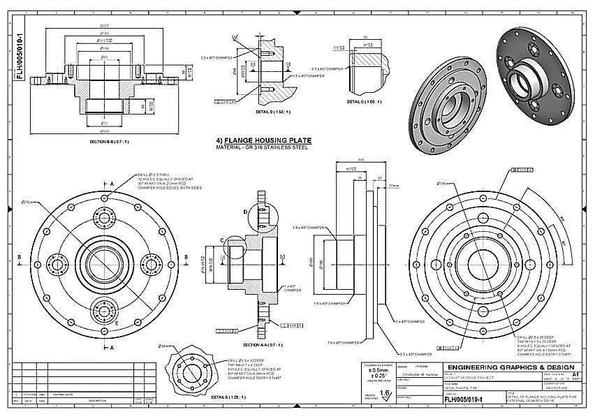 how to draw a detail blueprint drawing