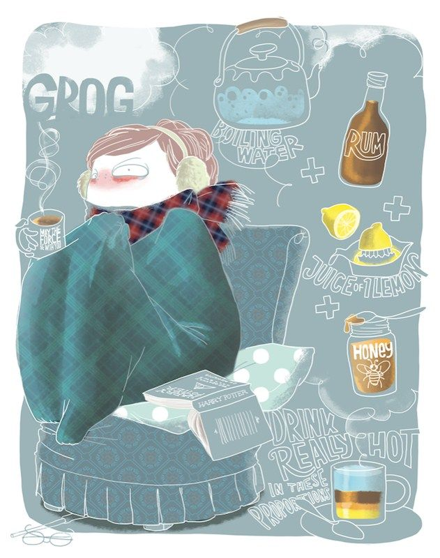'Grog' recipe print by Emma Tissier £35 - Steer away that pesky cold!