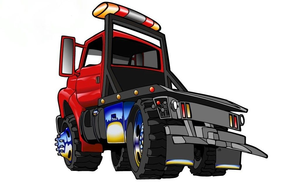 Cartoon Tow Truck Clipart Library Truck Coloring Pages Fire