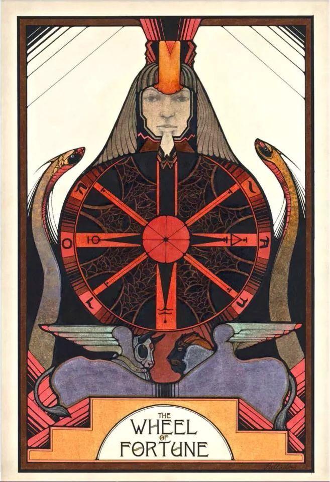 Wheel of Fortune, Aquarian Tarot