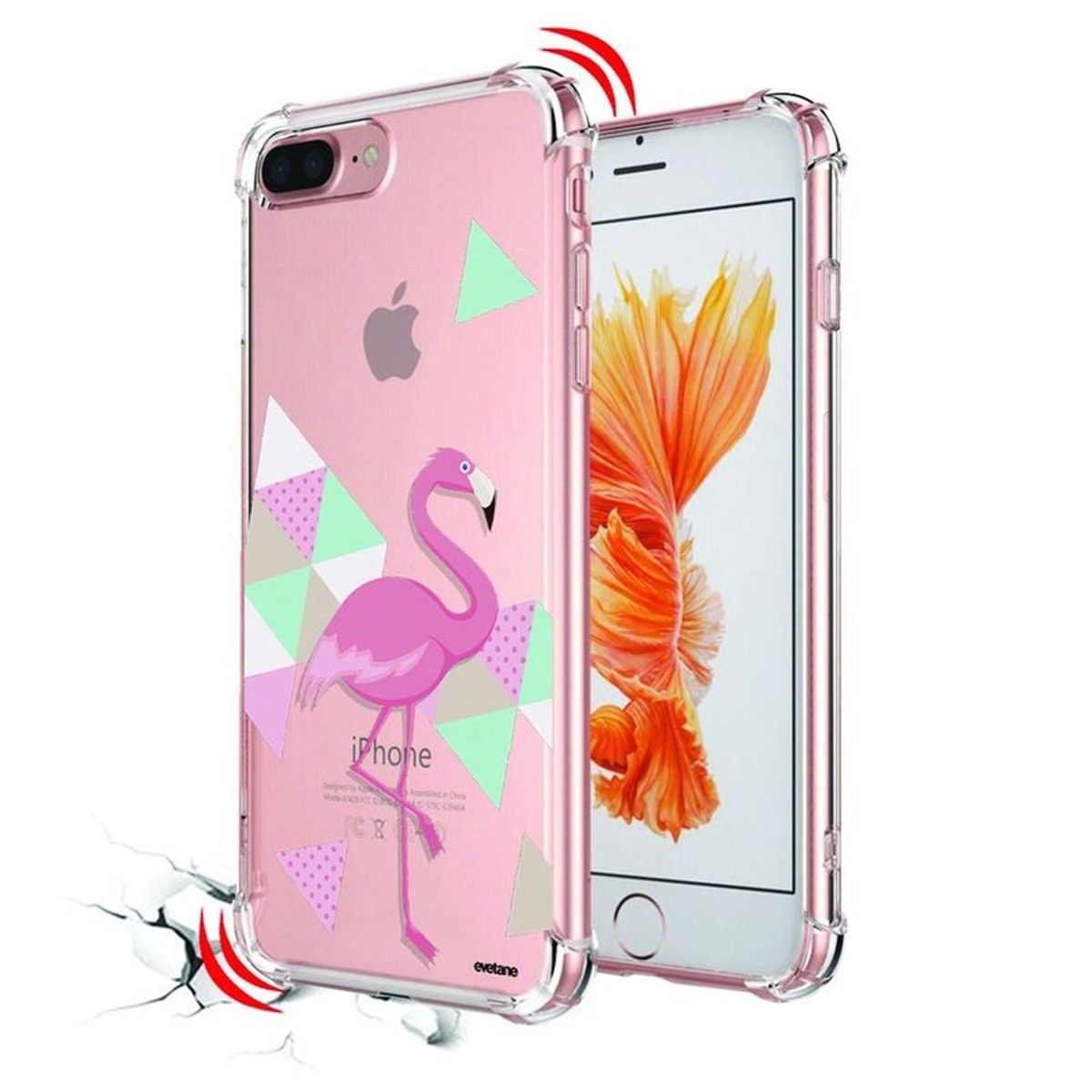 coque iphone 7 plus antichoc rose