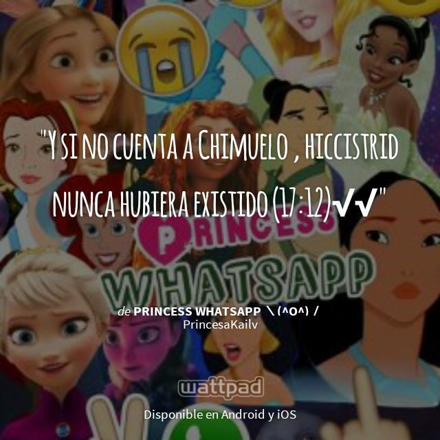 "Estoy leyendo "" Princess Whatsapp \(^o^)/ ""en #Wattpad.  #Frase"