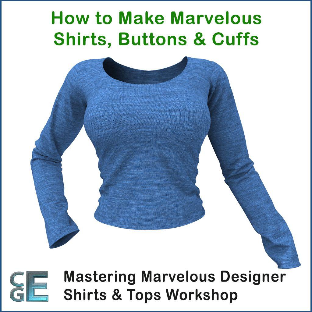 MD102 – Marvelous Designer Basics of Shirts Workshop | Marvelous ...