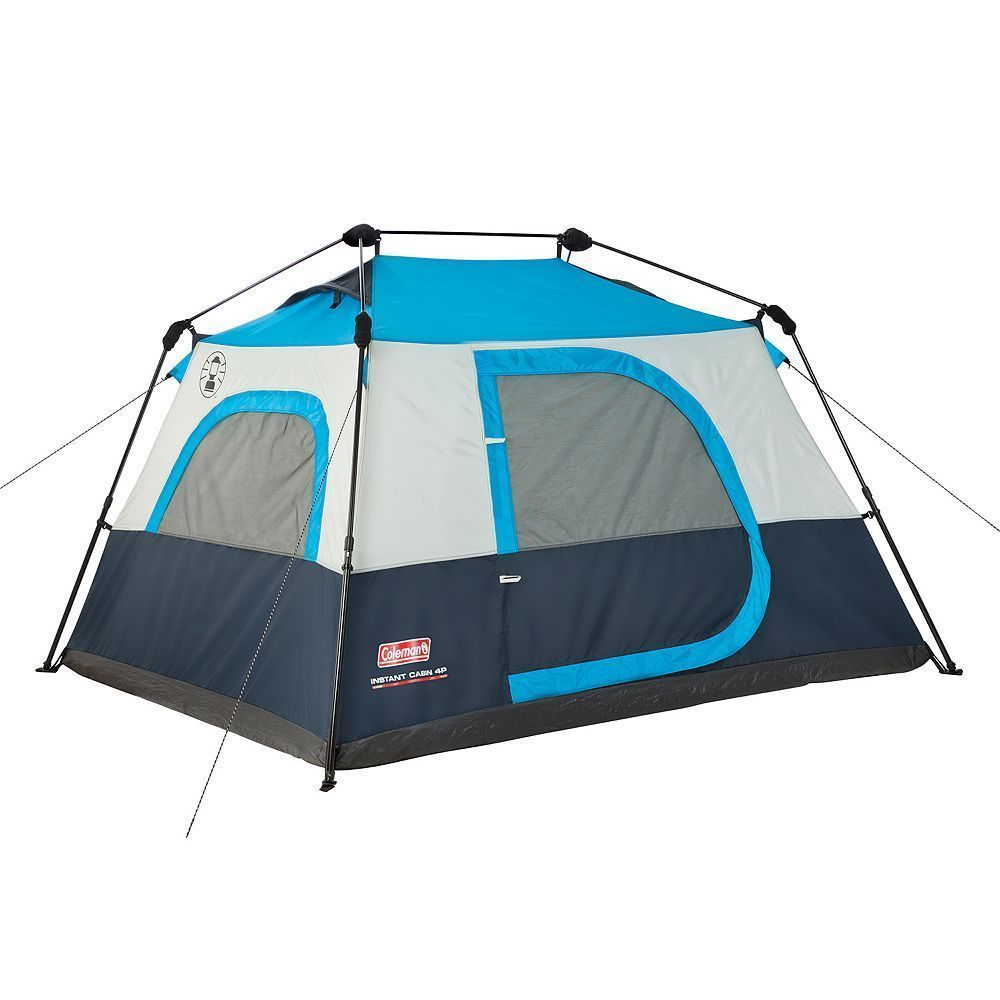 Coleman Instant 4 Person Camping Tent Multicolor 4 Person Camping Tent Family Tent Camping Tent