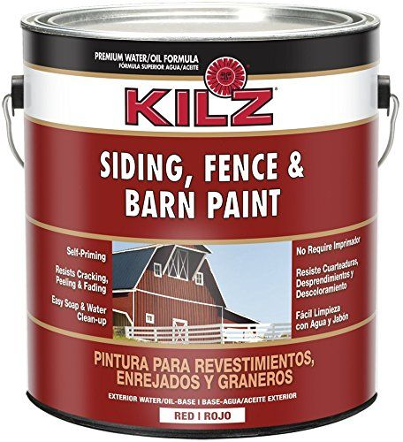 KILZ Exterior Siding Fence and Barn Paint Red 1gallon ...