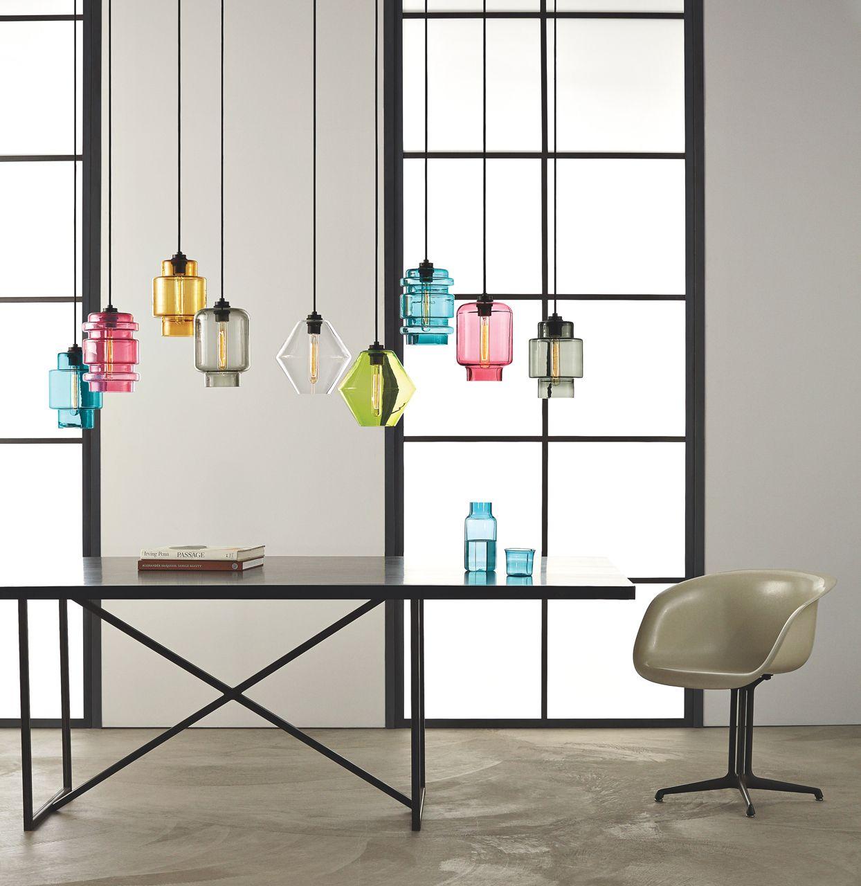 Modern Colored Glass Pendant Lamps Light Up The Room Design Milk Niche Modern Lighting Niche Modern Glass Lighting