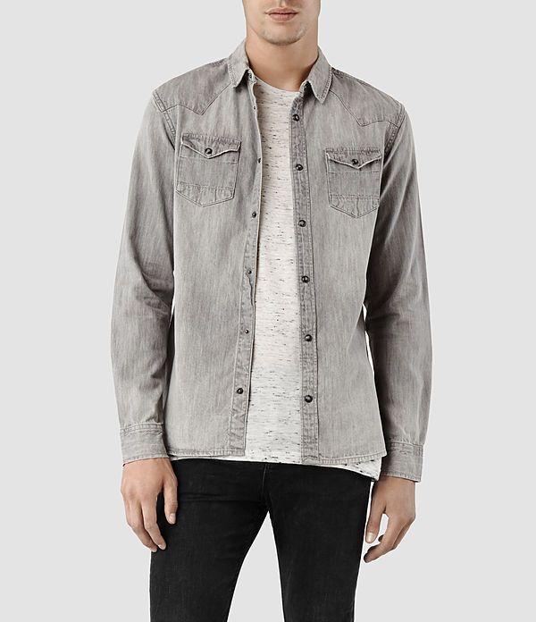 1a5c870de9 Mens Cannon Shirt (Grey)