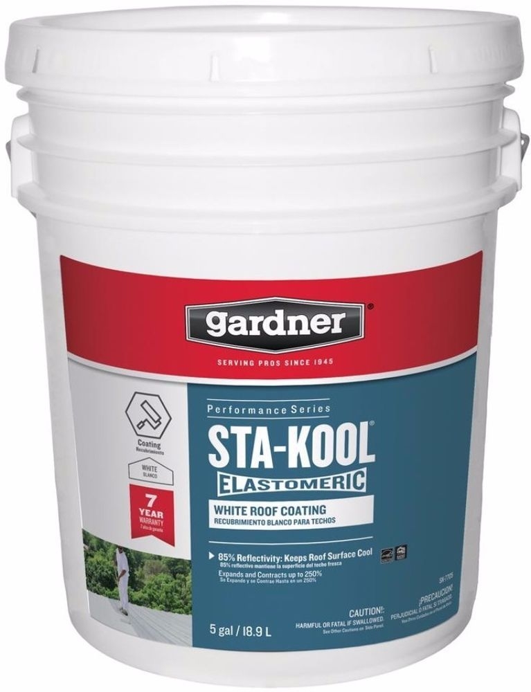 StaKool White Elastomeric Rubberized Roof Coating 5gal