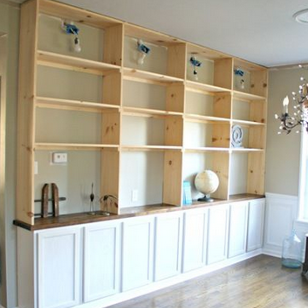 Best Way To Install Built In Shelves For The Home