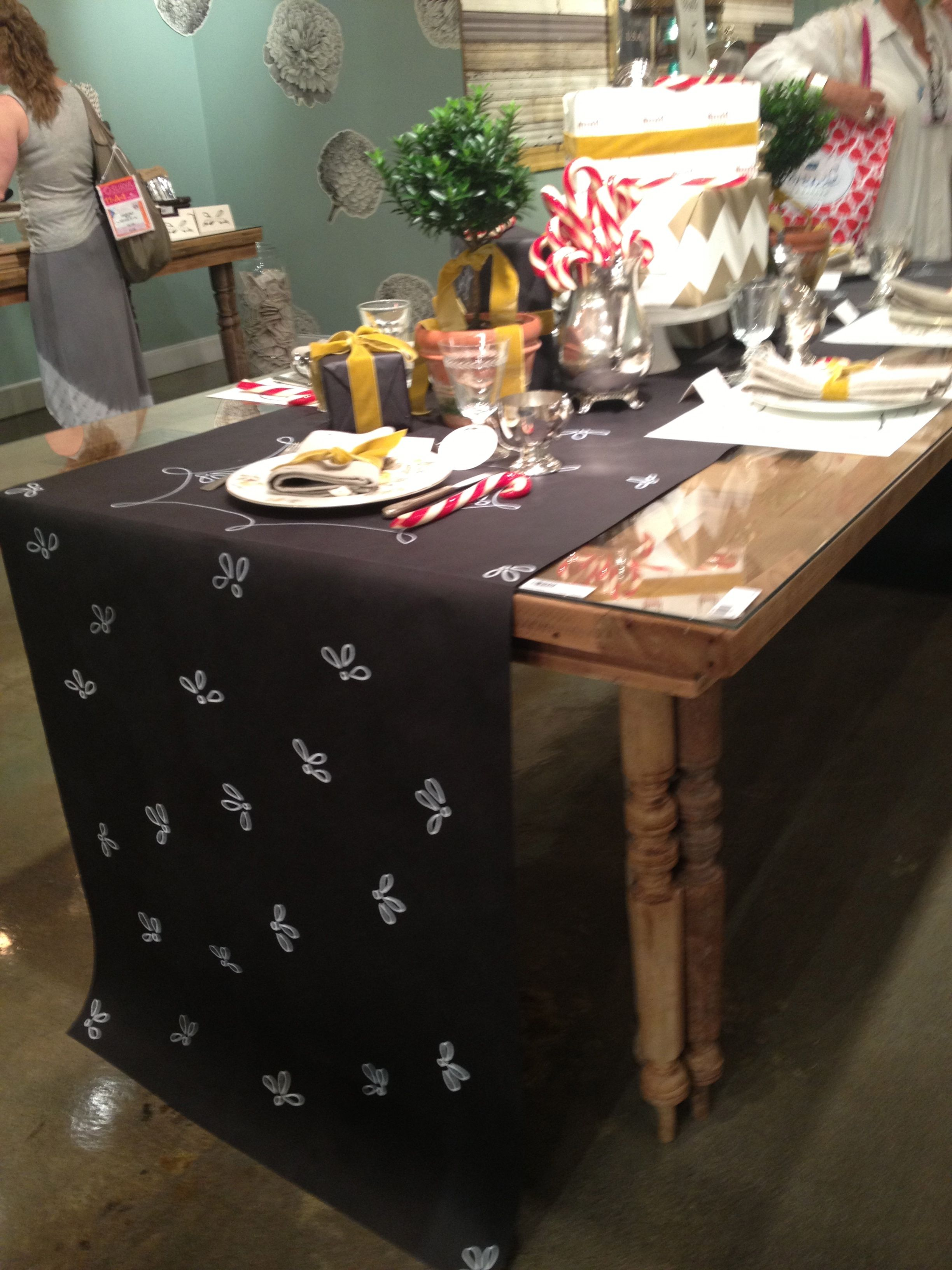 Kitchen Papers This Great Chalkboard Table Runner Can Be Decorated