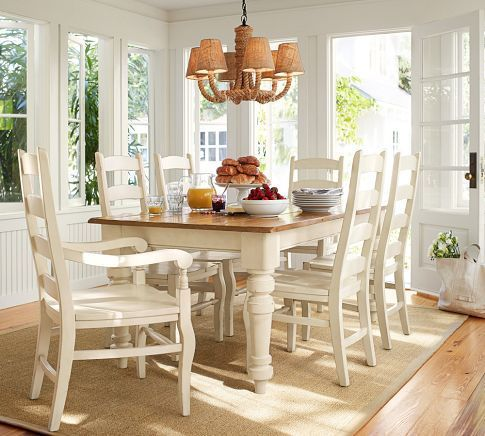 Keaton Extending Dining Table French White Country Dining