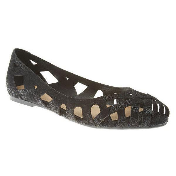 64e7cc7727333 Lane Bryant Cut-out peep toe flat, Women's, Size: 8 W, Black ($40 ...