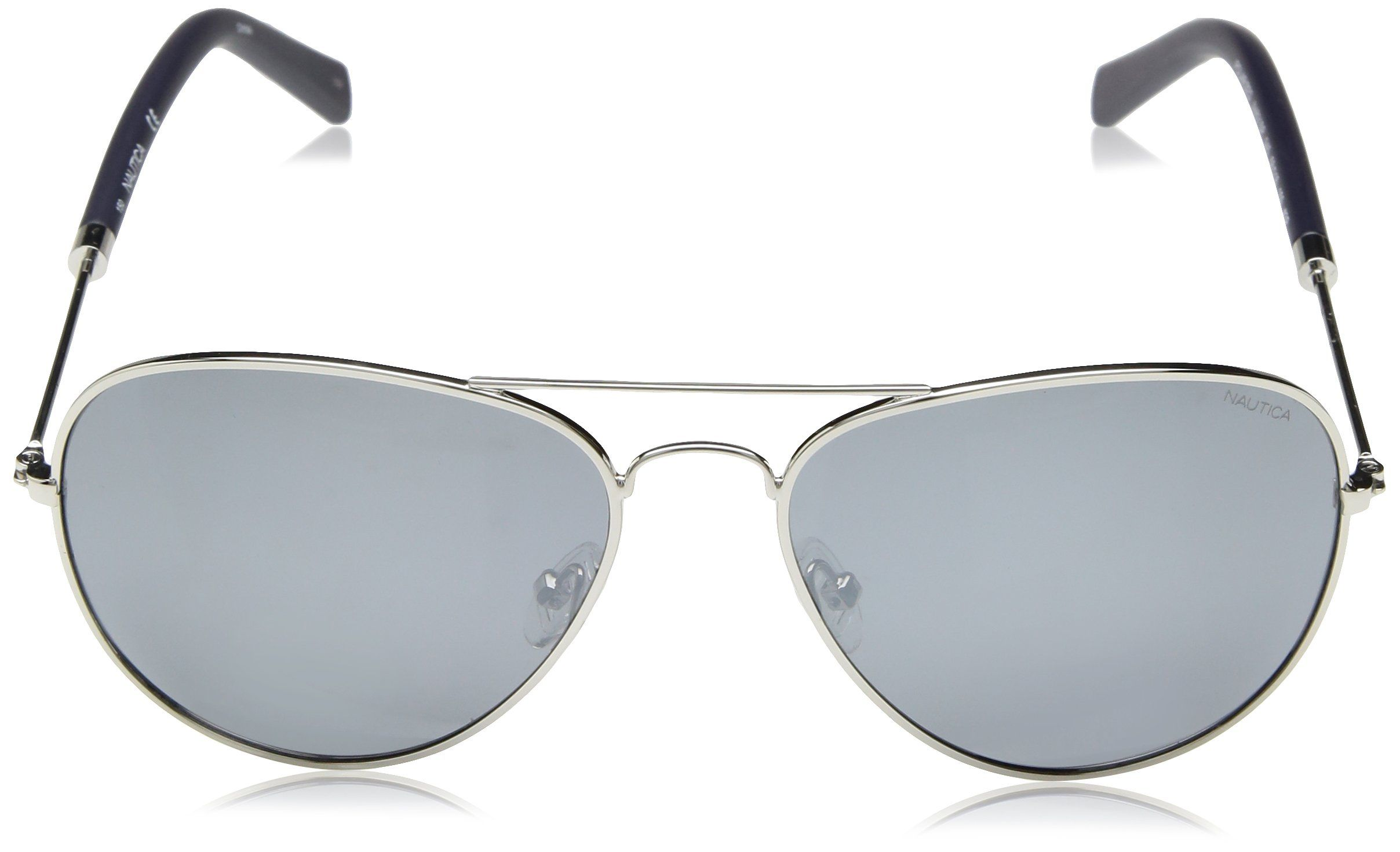 4c10cd125b Nautica Mens N4631sp Polarized Aviator Sunglasses Silver 58 mm    You can  find out more