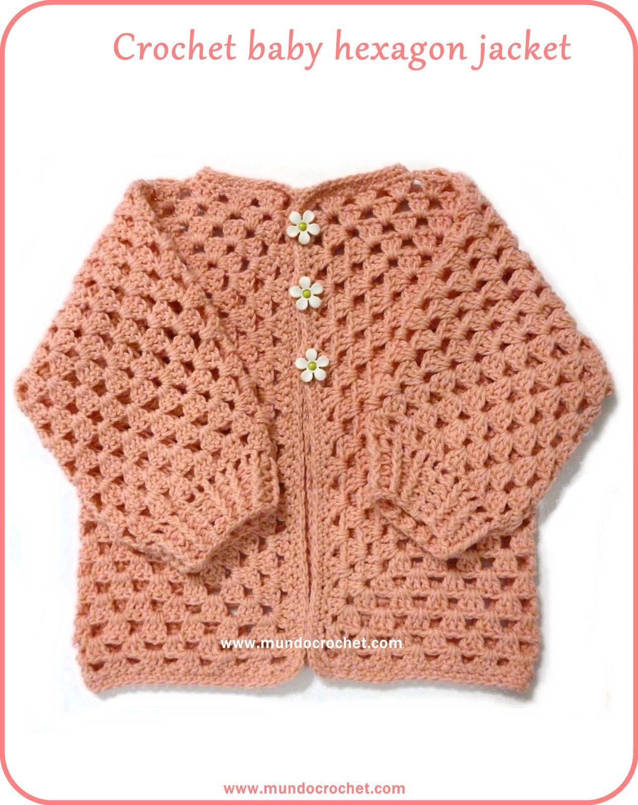 ee21d0e0ef7a Crochet baby hexagon jacket with no holes  Free pattern and Tutorial ...