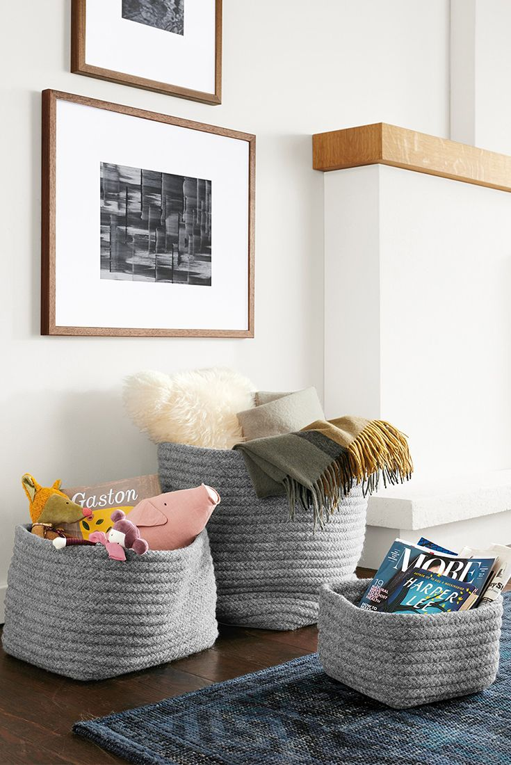 Living Room Storage Can My Stylish With Our Modern Storage Bins And Baskets Living Room Design Diy Living Room Diy Modern Kids Furniture #storage #baskets #living #room