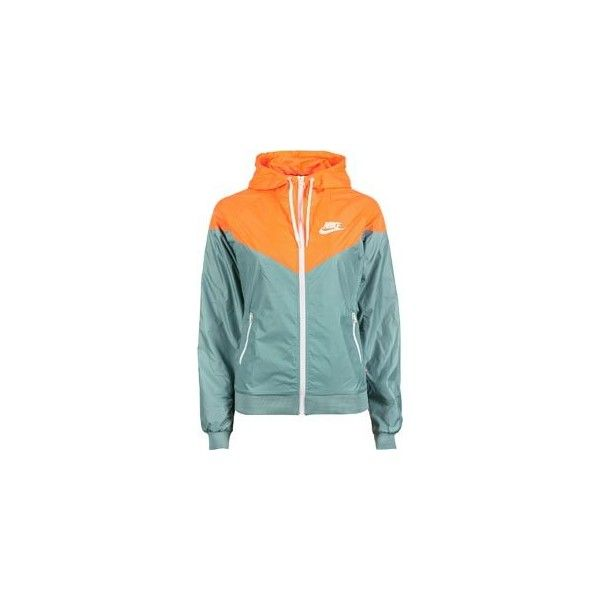 f9df383a79d8 Nike Windrunner W jacket turquoise neon orange ( 64) ❤ liked on Polyvore  featuring jackets