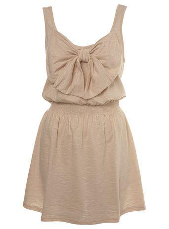 Nude bow dress