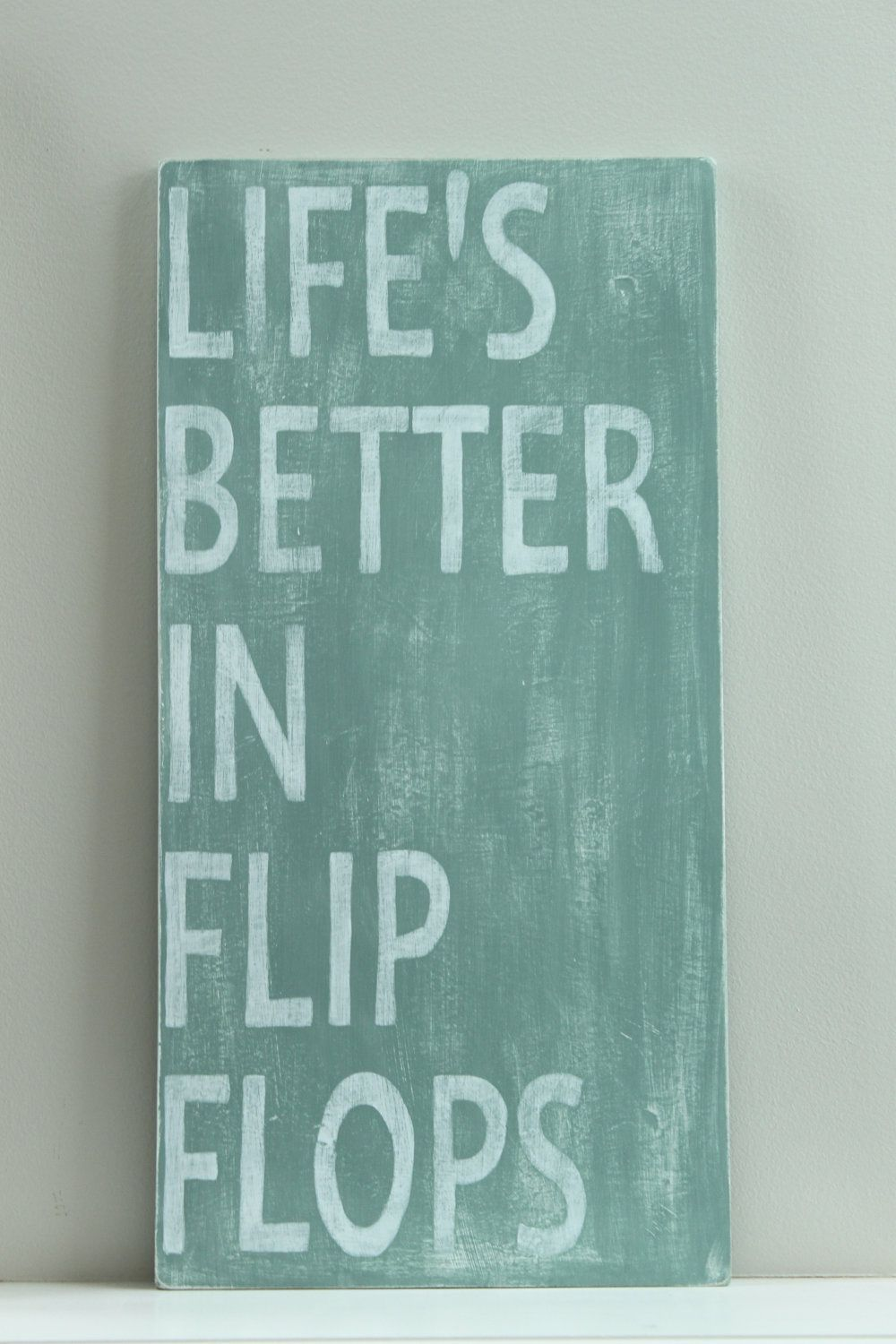 Wood Wall Art Quotes beach sign, custom wood sign, beach quote, life's better in flip