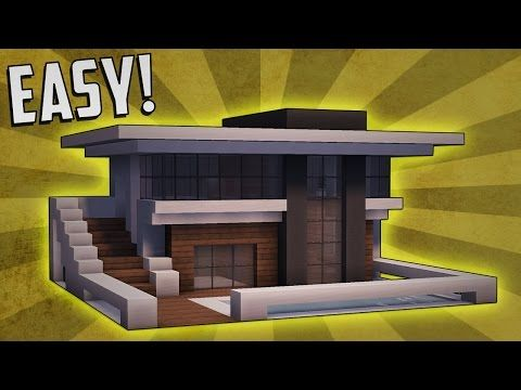 Minecraft how to build a small modern house tutorial 9 for Minecraft haus modern