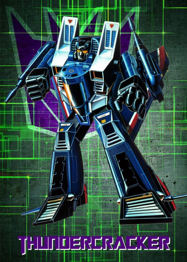 "Transformers G1 Decepticons Thundercracker #Displate artwork by artist ""Wiebes"". Part of a set featuring… | Displate thumbnail"