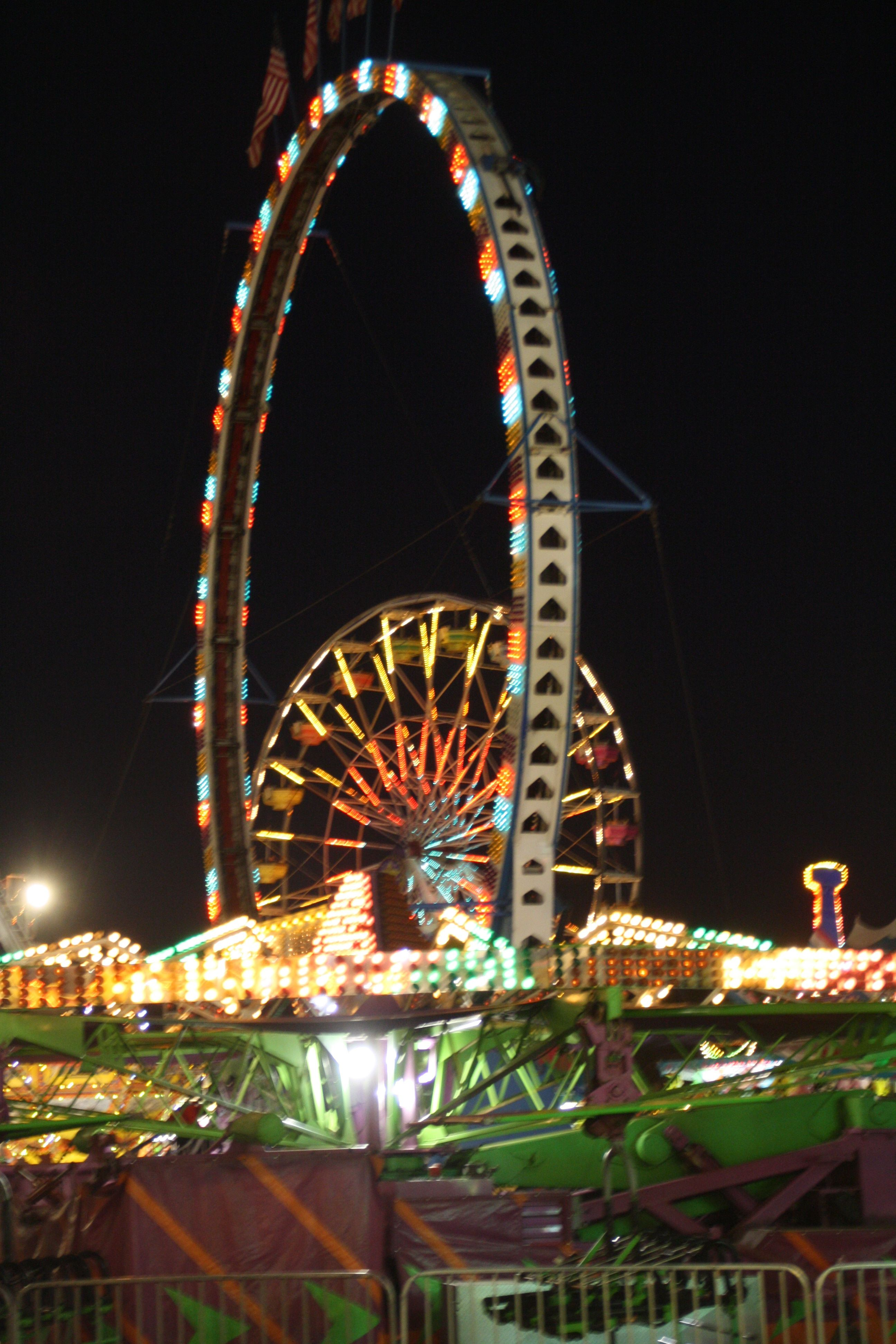 carnival midway. annual ventura county fair. end of july – august