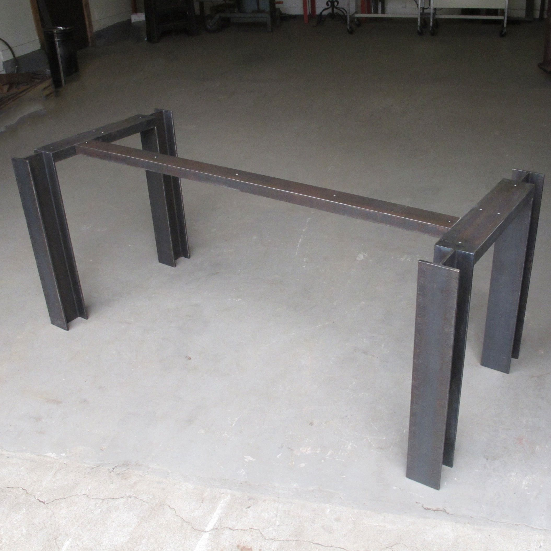 Metal Leg Desk I Beam Table Base Raw Mill Steel Steel Table