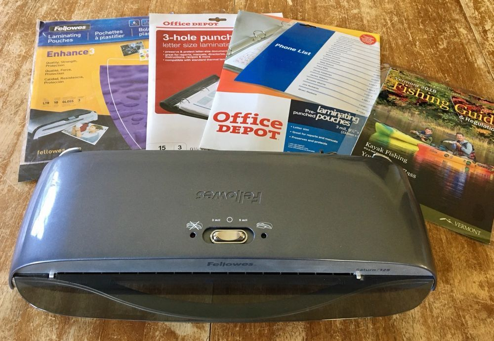Fellowes Saturn 125 Laminator 12 5 Extras Free Shipping Ebay Ebay Laminators Fellowes