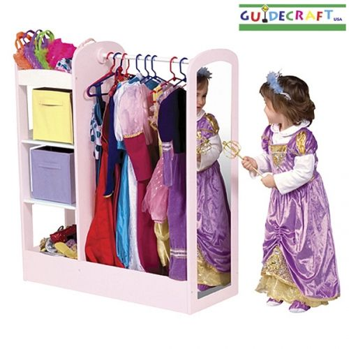 love this storage system for dress up racks bins and a mirror for the princess kids. Black Bedroom Furniture Sets. Home Design Ideas