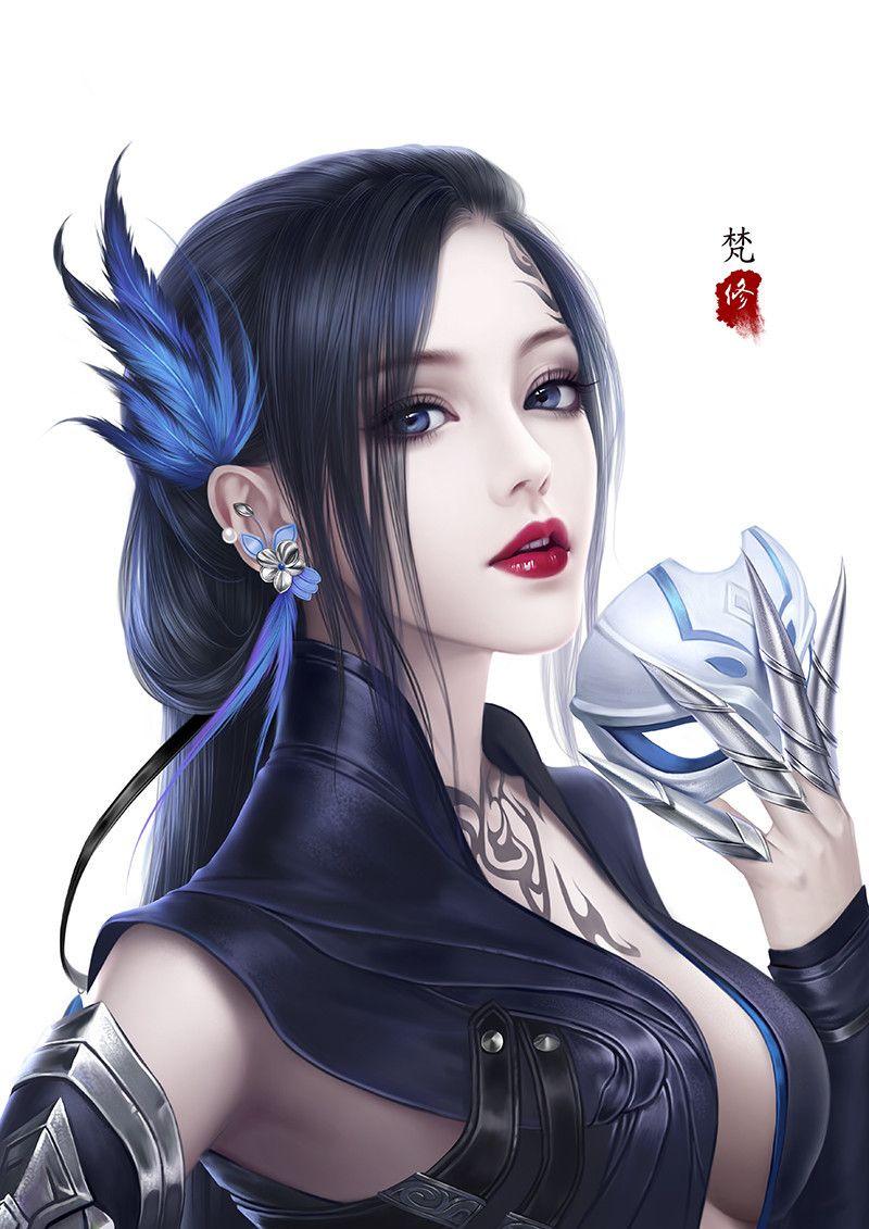 Beautiful girl [digital art by Fan xiu] Girls from anime, games