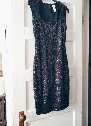 1e8124a5 Now for sale! This black, sequin cocktail dress new from Cache. Buy my