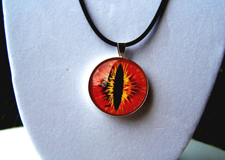 Dragon eye pendant glass eye jewelry