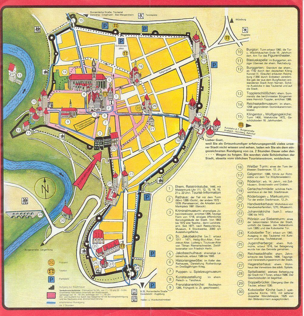 rothenburg germany Rothenburg Tourist Map Rothenburg Germany