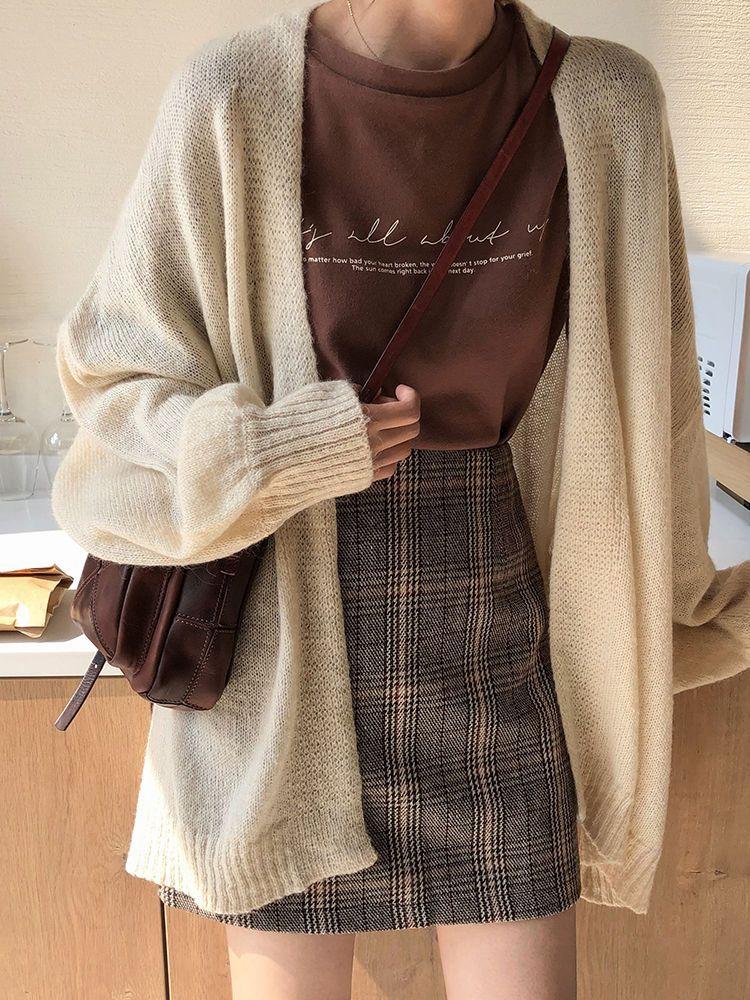 Timp Temp Plaid High-Waist Mini A-Line Skirt | Yes