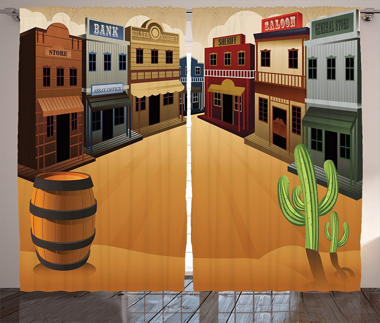 Amazon Com Ambesonne Saloon Decor Collection Cartoon