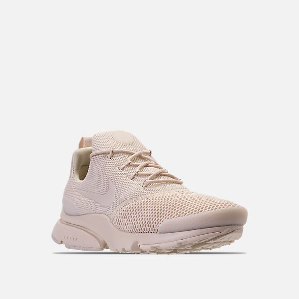 c9419d08eb73 Three Quarter view of Women s Nike Presto Fly Casual Shoes in  Oatmeal Oatmeal Oatmeal