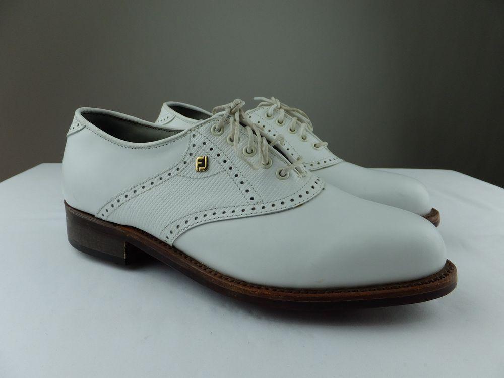 FootJoy Classics DRY Premiere Vintage Golf Shoes White ...
