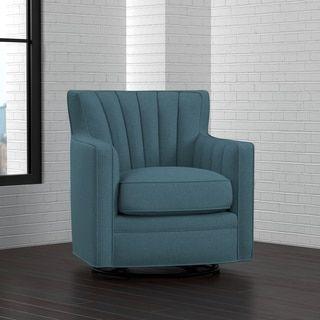 handy living zahara blue linen swivel arm chair by handy living. Interior Design Ideas. Home Design Ideas