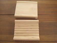 Wood Soap Dishes, set of 2