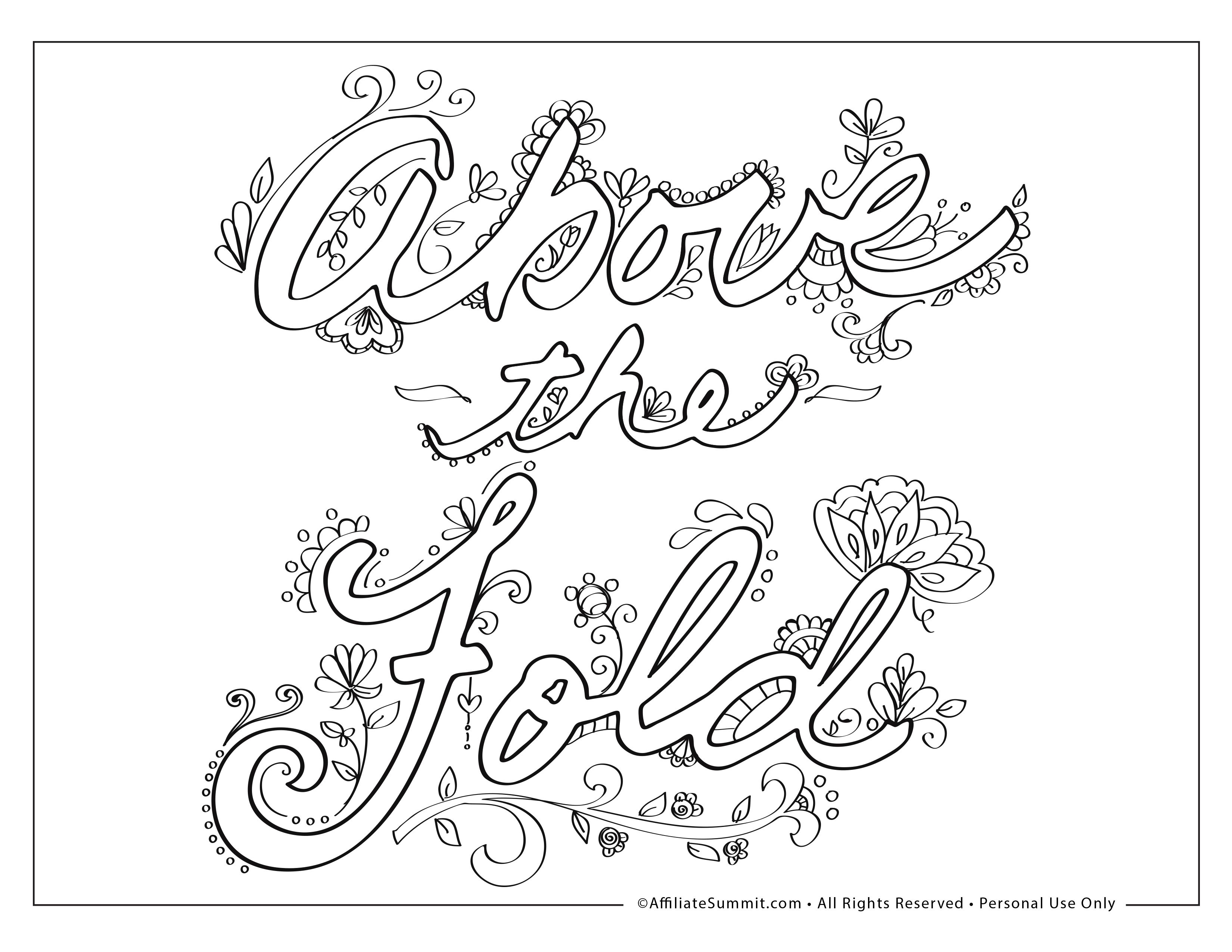 Affiliate Summit Has Created Coloring Pages That Are Free To Download And Print Maybe It S When You Need Something Else To Do Whi Coloring Books Color Summit