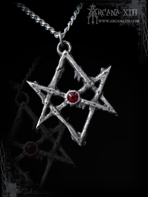Unicursal hexagram necklace of thelema with swarovski of your choice hey i found this really awesome etsy listing at httpetsylisting170124340unicursal hexagram thelema crowley mozeypictures Images
