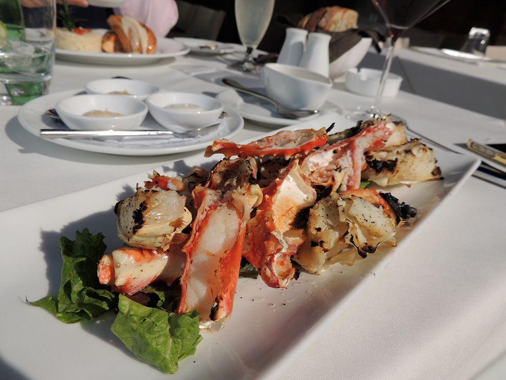 King Crabs a las brasas, de la Glouttonerie.