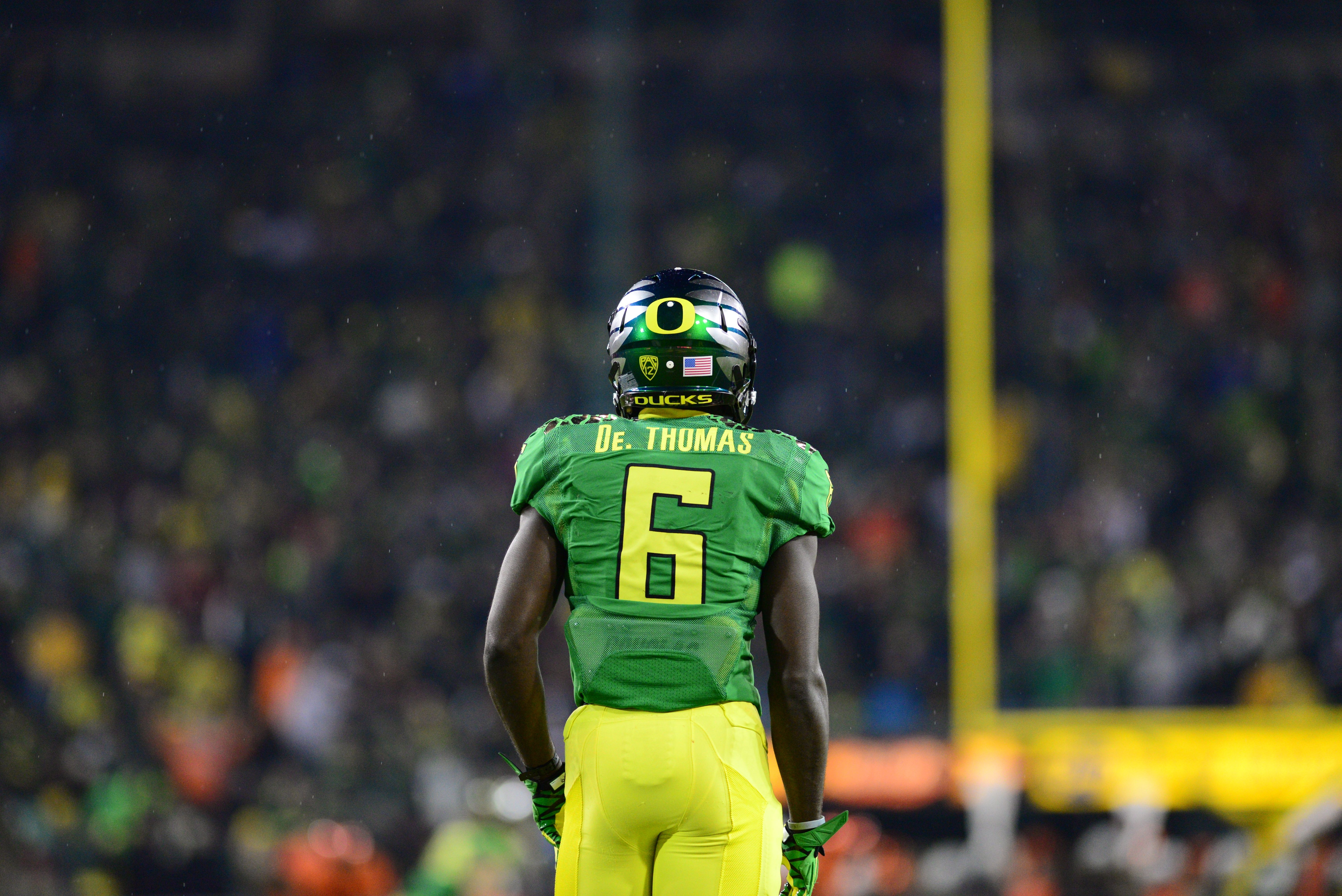 Former University Of Oregon Ducks All Purpose Back De Anthony Thomas Goducks Photo By Chris Poulson Oregon Football Oregon Ducks Football Ducks Football