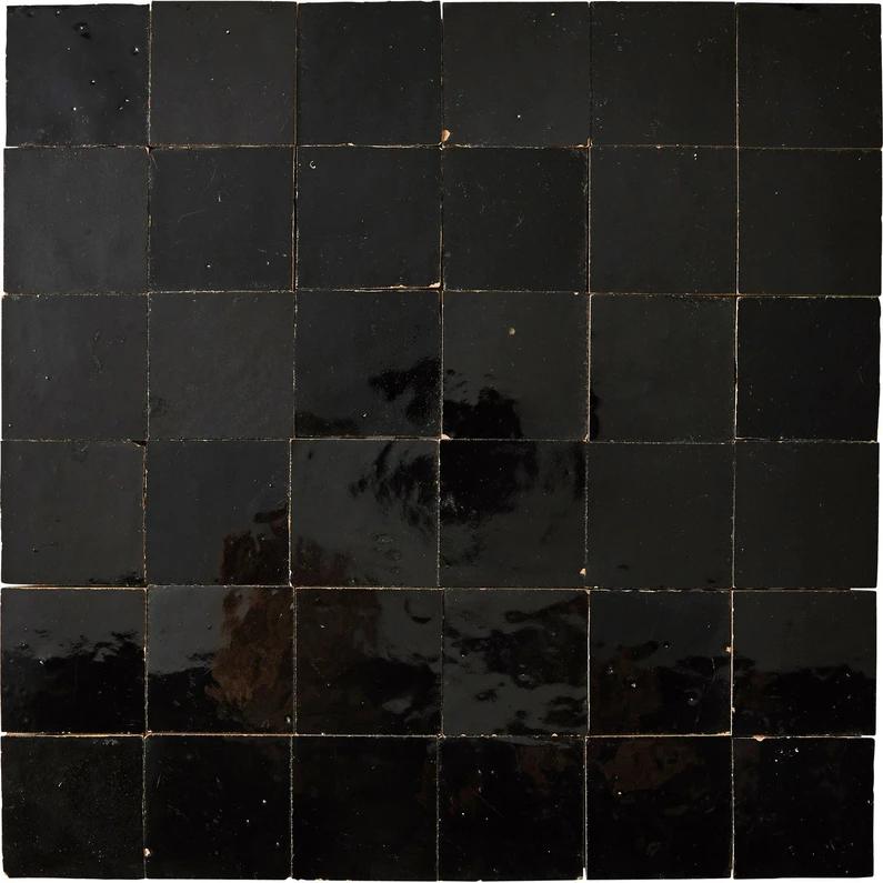 Mosaique Mur Zellige Noir 5 X 5 Cm En 2020 Zellige Mosaique Et
