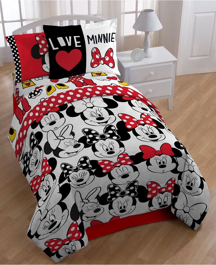Disney S Minnie Mouse Who Twin Full Comforter Set Bed In A Bag Bed Bath Macy S Minnie Mouse Bedroom Minnie Mouse Bedding Full Comforter Sets
