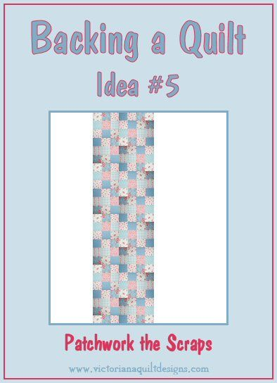 Backing a Quilt Idea #5 -