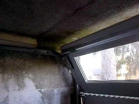 Garage Door With Less Than Zero Headroom, Track Is 5 Inches Below Opening