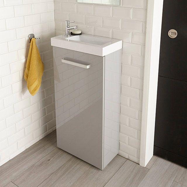 Lave Mains Gris Beryl Lave Main Idee Deco Toilettes Meuble Sous Lavabo