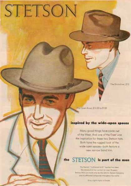 Stetson Hat – The Stratoliner   Open Road (1952)  d1681bfb2493