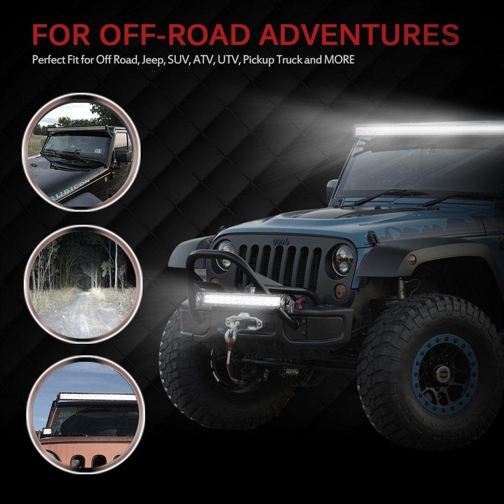 Amazon Com Mictuning 40 42 240w Led Light Bar Combo Spot Flood 15000 Lm Off Road Atv Suv Utv Jeep With Wiring Harness Auto Jeep Led Light Bars Offroad Jeep